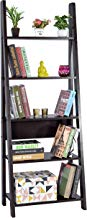 DeckUp Reno Ladder Bookshelf, Matte Finish (Dark Wenge)