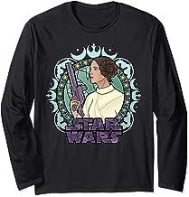Star Wars Princess Leia Stained Glass Cartoon Profile Long Sleeve T-Shirt