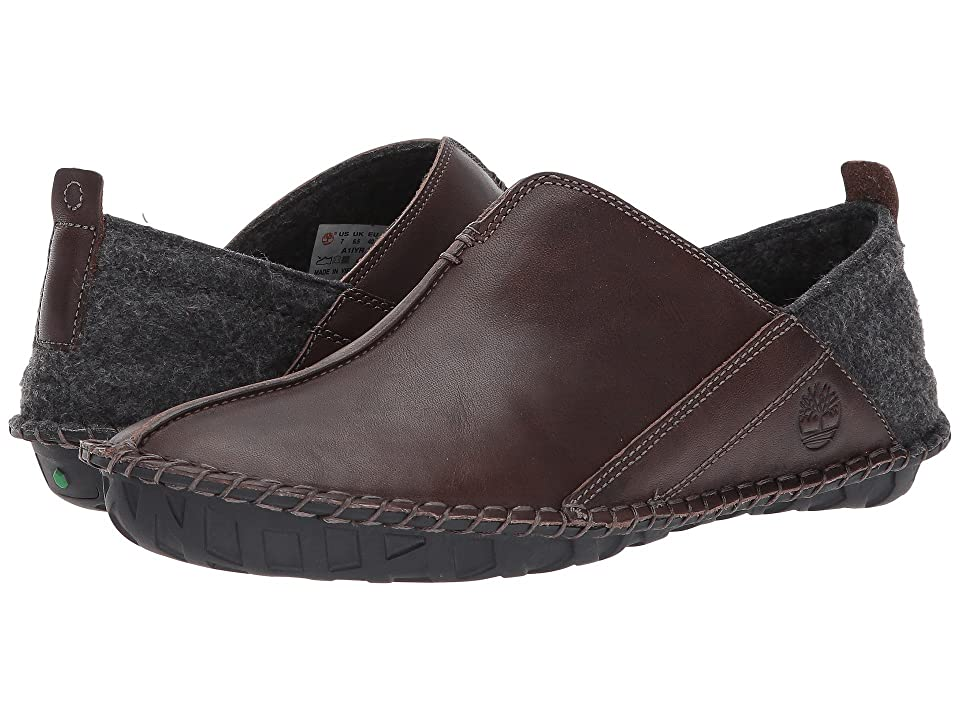 Timberland Front Country Lounger Leather Slip-On (Dark Brown Full Grain) Men