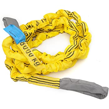 "Smittybilt CC120 Snatch Strap 2 3/8"" x 30', 17,000 lb Rating, Yellow"
