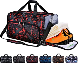 Sports Gym Bag with Shoes Compartment & Wet Pocket, Travel Duffel Bag for Men and Women