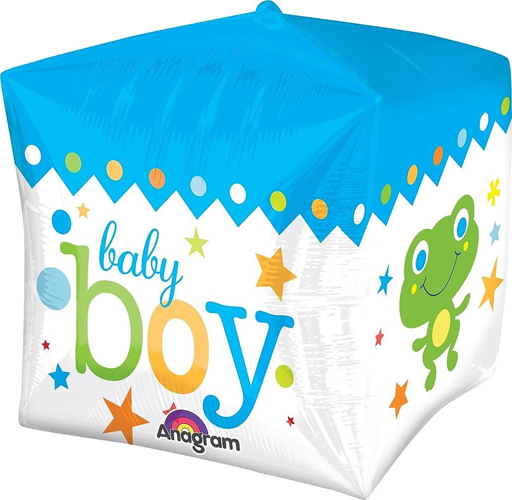 Anagram International Sweet Baby Boy Cubez Balloon Pack, 15