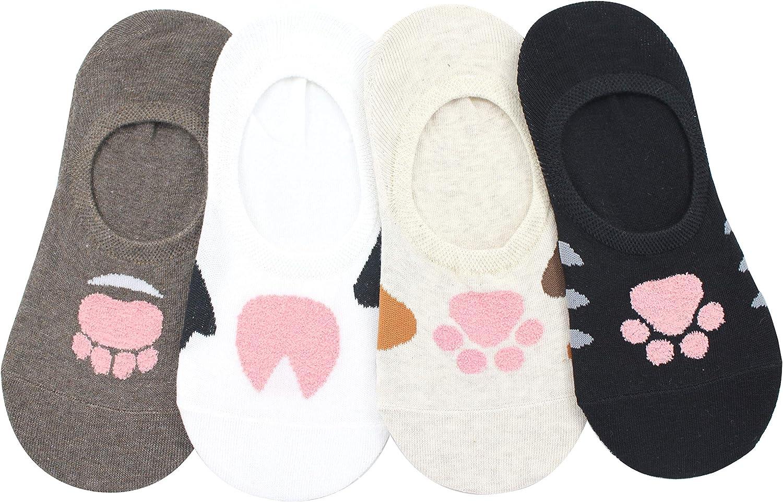Purchase Footprints show socks No Show Cotton 4 Slip Non - Socks Cheap mail order shopping Pairs