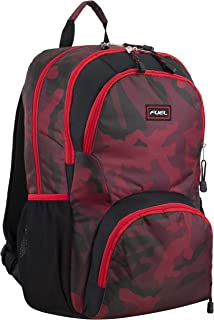Valor Everyday Backpack with Interior Tech Sleeve, Poppy Red/Black/Red Camo