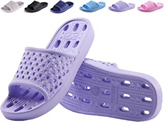 Bathroom Shoes Shower Sandals for Women and Men Non Slip Bath Slippers Soft Lightweight Quick Drying Gym Slipper with Holes