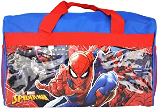 Ruz Spiderman 600D Polyester Duffle Bag with Printed PVC Side Panels