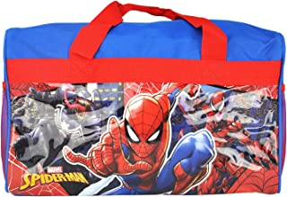Spiderman 600D Polyester Duffle Bag with Printed PVC Side Panels