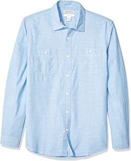 پیراهن آستین بلند مردانه باریک و متناسب Amazon Essentials