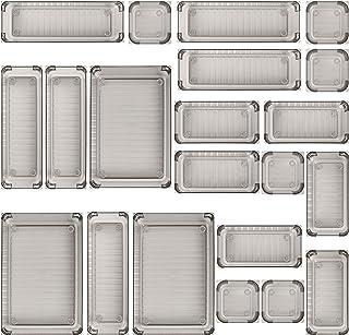 21 قطعة من أدراج المكاتب من كوتيك، 4 أدراج أدراج حمام ومنظمات تخزين بلاستيكية، فواصل تخطيط مخصصة لمستحضرات التجميل وخزانة ...