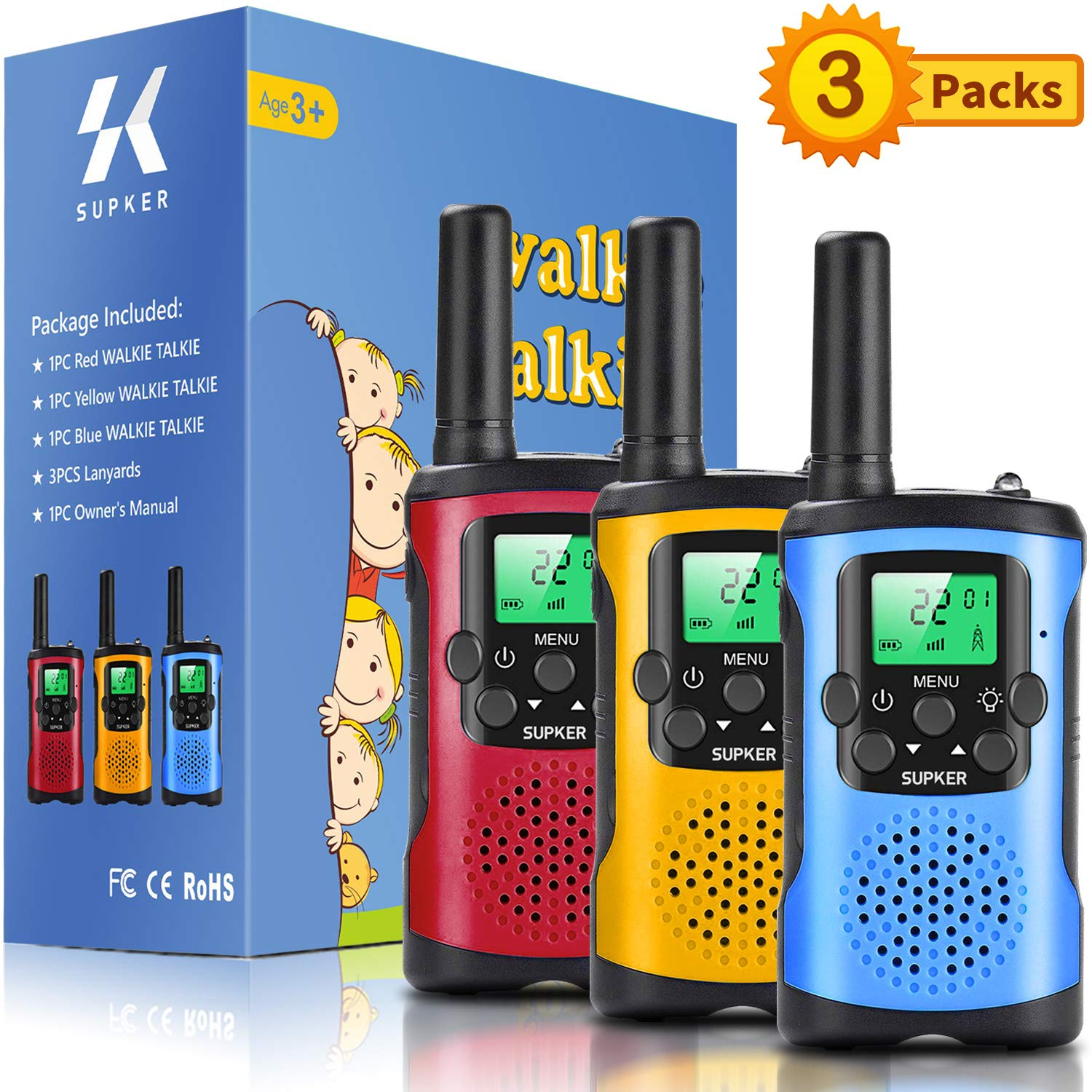 Supker Talkies Channels Outdoor Camping