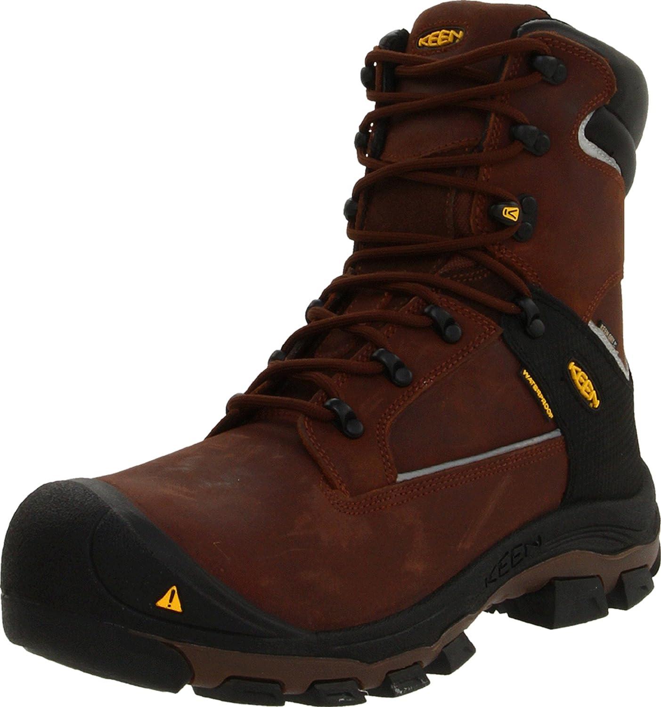 KEEN Utility Men's Portland Puncture Resistant 8  Aluminum Toe Work Boot