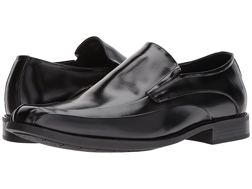 Stacy Adams Elston Bike Toe Slip On Loafer (Black) Men