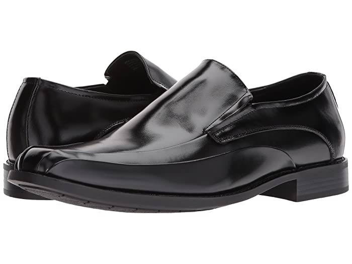 Mens Retro Shoes | Vintage Shoes & Boots Stacy Adams Elston Bike Toe Slip On Loafer Black Mens Shoes $74.95 AT vintagedancer.com