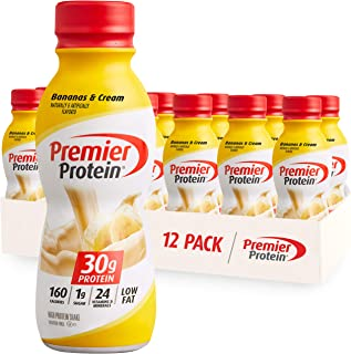 Premier Protein 30g Protein Shake, Bananas & Cream, 11.5 Fl Oz Bottle, (12Count)