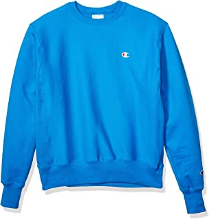 Champion LIFE Men's Reverse Weave Sweatshirt, Running Waves-Left Chest Small c, Large