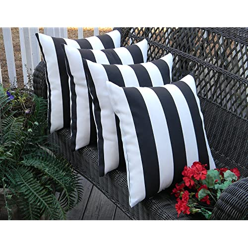 Resort Spa Home Decor Set Of 4 Indoor Outdoor Square Decorative Throw Toss Pillows