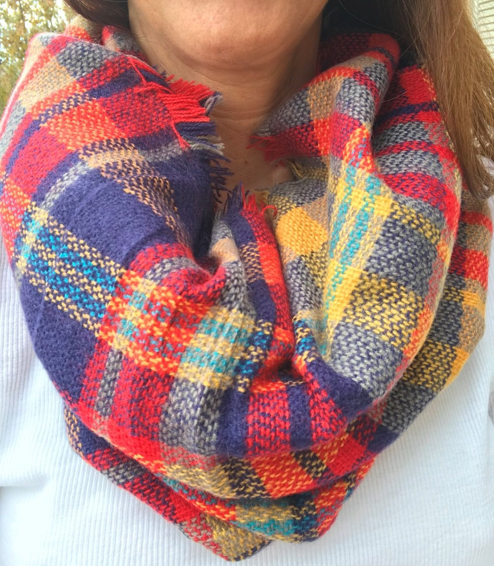 Blanket Scarf Plaid Max 87% OFF Infinity Large-scale sale Co Uptown Girl By