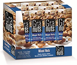 Granuts Mixed Nuts | Almonds, Peanuts & Cashews | Healthy + High Protein | Perfectly Salted | Crunchy + Soft Textures | On...