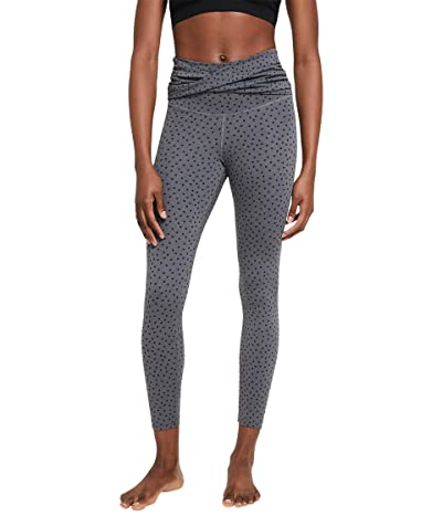Nike NY Dots Twist 7/8 Tights (Black/Heather/Black) Women