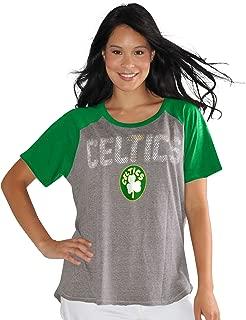 Touch by Alyssa Milano NBA Boston Celtics Conference Tee Plus, 2X, Heather Grey