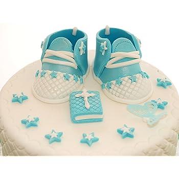 Edible Blue Baby Boy Shoes Set