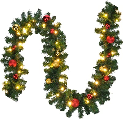 Golden 24.6ft Colorful Glittering Foil Star Shaped Tinsel Wire Garland for Christmas Trees Decoration Wedding Birthday Party Festive Ornament HEEPDD Star Garland