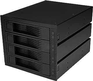 StarTech.com 4ベイ 3.5インチSATA/SASハードディスクドライブ用リムーバブルベイ ホットスワップ対応 3x 5インチベイに搭載 トレイ不要モバイルラック HSB43SATSASB