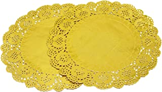Best gold round doilies Reviews