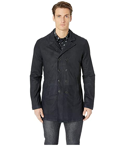 John Varvatos Collection Double Breasted Cut-Away Coat L1023U4