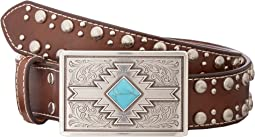 Studded Edge Aztec Buckle Belt