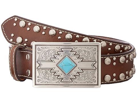 Studded Edge Aztec Buckle Belt