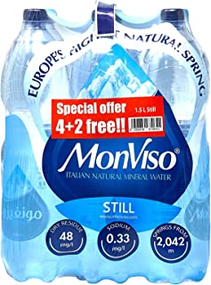 Monviso Italian Natural Mineral Water - 1.5 Litre (Pack of 6)