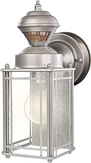 Heath Zenith HZ-4135-SV 150 Degree Motion Sensing Decoractive Security Light with DualBrite Technology, Silver