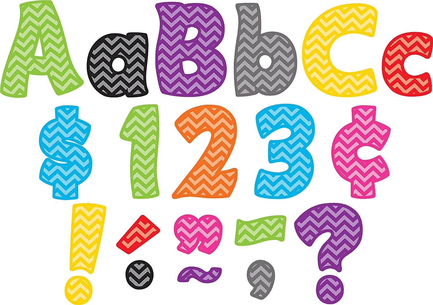 Teacher Created Same day shipping Resources 5454 4-Inch Letters Chevron Funtastic 55% OFF