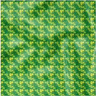 Lunarable Shamrock Cloth Napkin Set of 4, Silhouette Clover Motif, 18