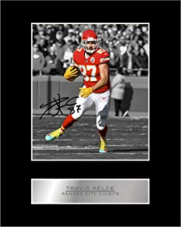Travis Kelce Signed Mounted Photo Display Kansas City Chiefs #05 NFL Printed Autograph Gift Picture Print