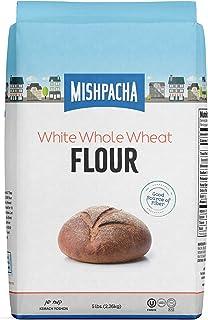 Mishpacha 100% White Unbleached Whole Wheat Flour (5 Pounds) Whole Grain, Premium Quality, Good Source of Fiber