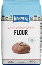 Mishpacha 100% White Unbleached Whole Wheat Flour (5 Pounds) Whole Grain, Premium Quality, Good Source of Fiber