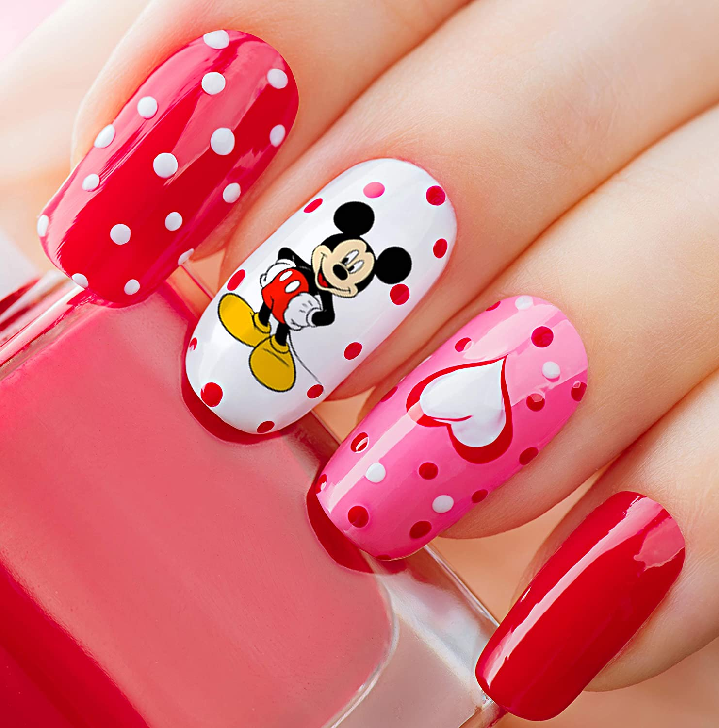 Buy Mickey Mouse & Minnie Mouse Waterslide Nail Art Decals - Salon Quality  Online in Kazakhstan. B07Q3WMHHT