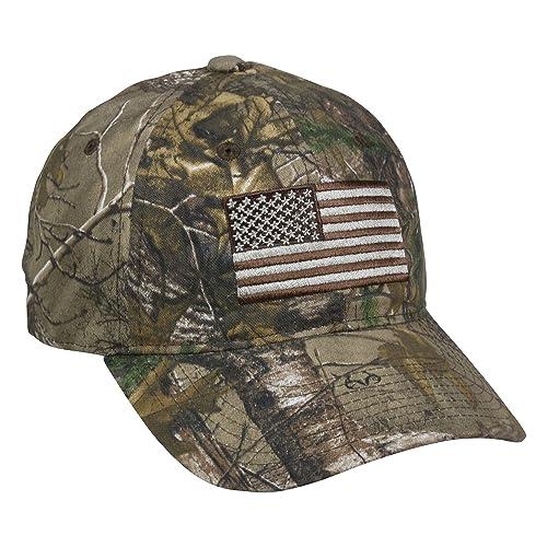 6d60fbe7 Outdoor Cap Men's Camouflage Americana Cap, One Size