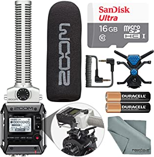 ズームf1-spフィールドレコーダーwith Shotgun Microphone f1-spパッケージwith 16GBカードと基本的なバンドル