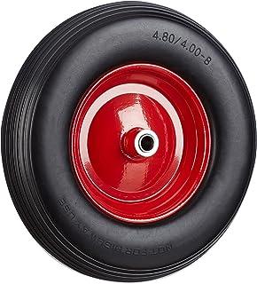 Relaxdays Kruiwagenwiel 4.80 4.00-8, massief rubberen banden en stalen velg, reservewiel lekvrij, 100 kg draagvermogen, zw...
