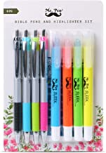 Mr. Pen- Bible Highlighters and Pens No Bleed, 8 Pack, Bible Journaling Kit, Bible Pens No Bleed Through, Gel Highlighters, Bible Markers No Bleed Through, Bible Study Kit, Christian Gifts