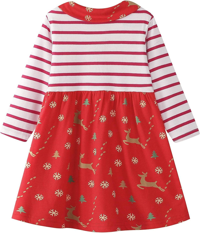 Fascia 3PCS 1-6T FANCYINN Neonate Costume Natalizio Abiti Toddler Girls Babbo Natale Top Manica Lunga Pantaloni Lunghi Stampati