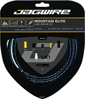 Jagwire - Mountain Elite Link Brake DIY Cable Kit | for MTN Bike with Disc or V-Brakes | SRAM and Shimano Compatible, Compressionless Housing