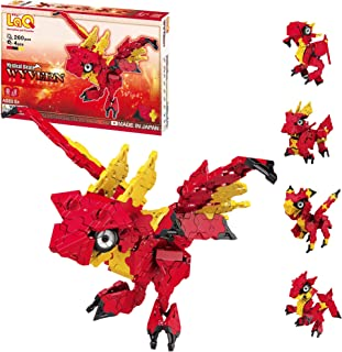 LaQ Mystical Beast Wyvern - 5 Models, 260 Pieces   Wyvern Mythical Creature   Japanese Building & Construction   Education...