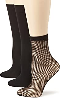 Angel Hosiery Women's 3 Pair Pack Fishnet Trouser Socks
