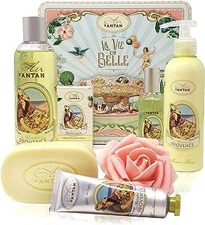 Un Air d'Antan® - PROVENCE - Set de Productos de Belleza, 5 Productos: 1 Gel de Ducha 250ml, 1 Crema de Manos 25ml, 1 Jabón 100g, 1 Loción Corporal 200ml, 1 Eau de Toilette 55ml - Perfume Verbena