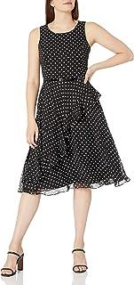 فستان نسائي بكشكشة منقطة من جيسيكا هوارد