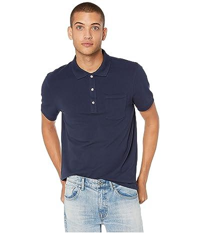 J.Crew Stretch Pique Polo Shirt (Navy) Men